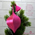 Glittery Christmas Ornament with Swarovski Crystals