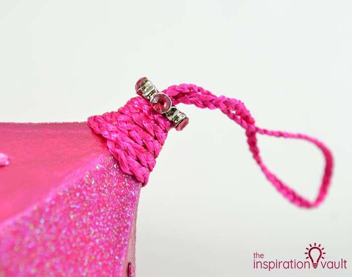 Glittery Christmas Ornament with Swarovski Crystals Step 10