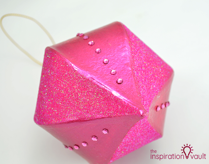 Glittery Christmas Ornament with Swarovski Crystals Step 4a