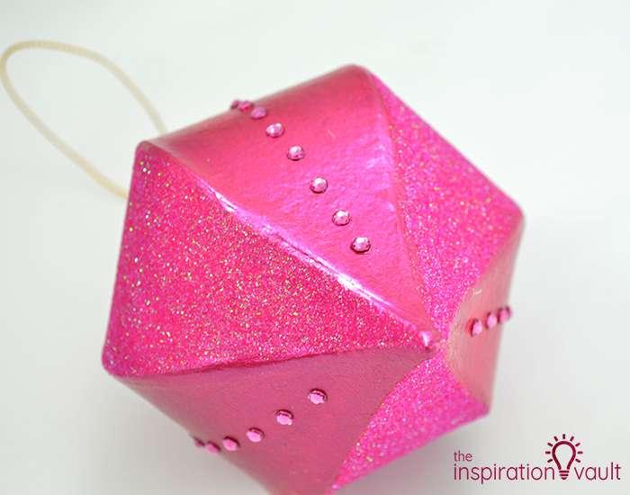 Glittery Christmas Ornament with Swarovski Crystals Step 4a