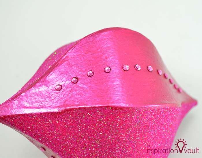 Glittery Christmas Ornament with Swarovski Crystals Step 4b