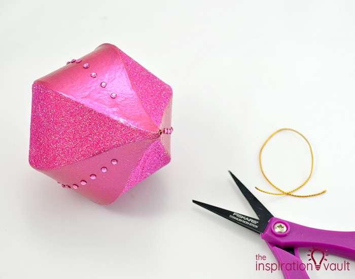 Glittery Christmas Ornament with Swarovski Crystals Step 5