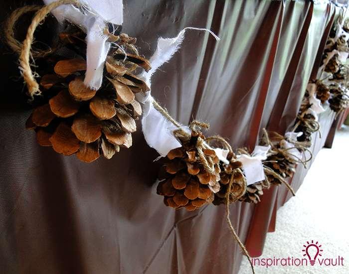 Rustic Pine Cone Garland Complete