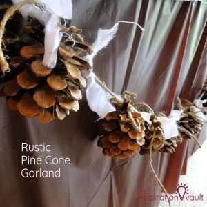 Rustic Pine Cone Garland Feature