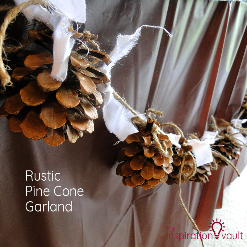 Rustic Pine Cone Garland Feature