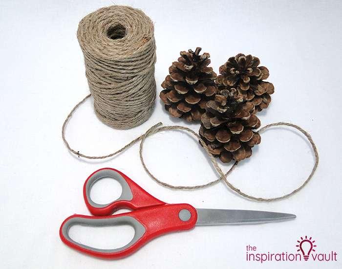 Rustic Pine Cone Garland Materials