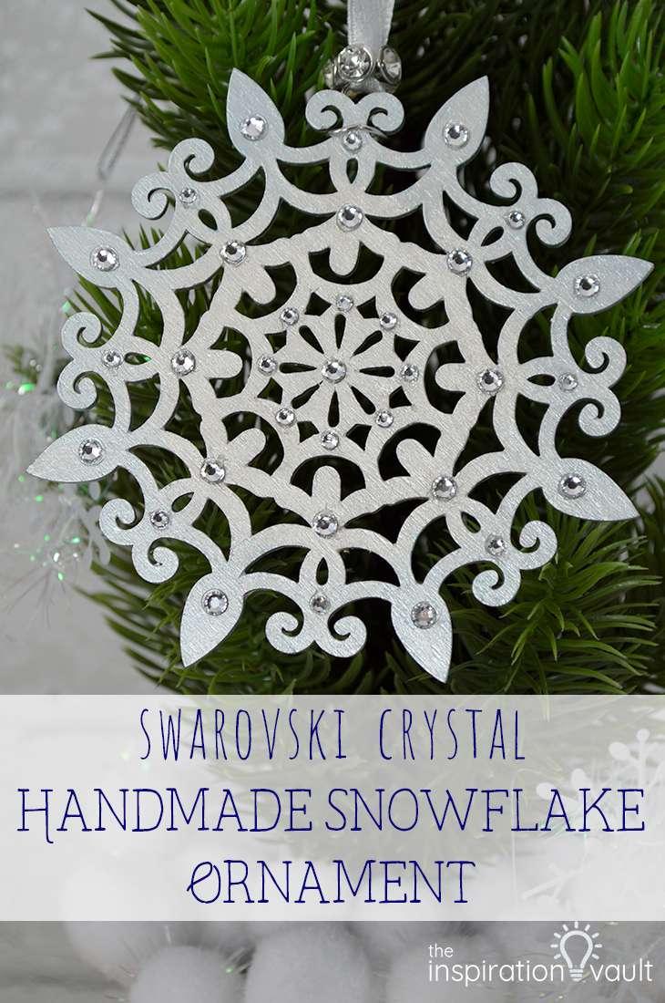 Snowflake Christmas Ornament Rhinestone Christmas Ornament Handmade Christmas Ornament Fabric Christmas Ornament Secret Santa Gift