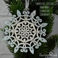 Swarovski Crystal Handmade Snowflake Ornament Feature a