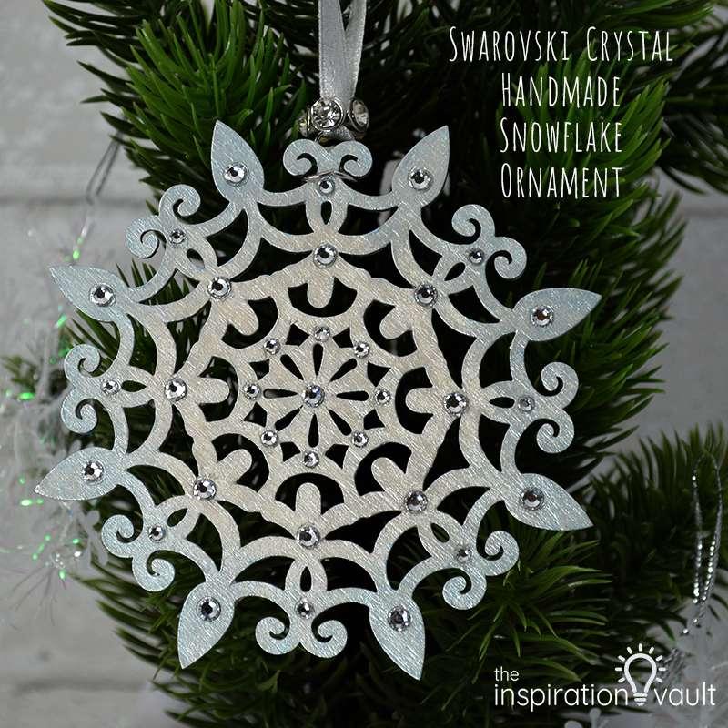 Swarovski Crystal Handmade Snowflake Ornament Feature a