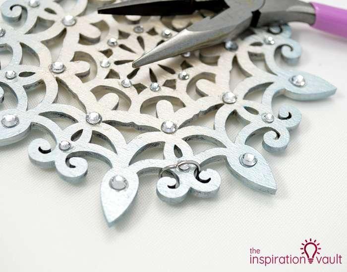 Swarovski Crystal Handmade Snowflake Ornament Step 4a