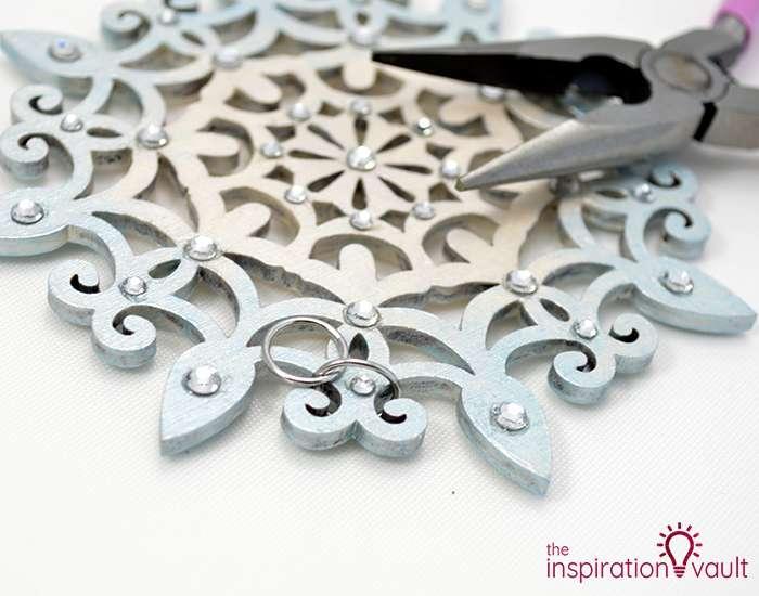 Swarovski Crystal Handmade Snowflake Ornament Step 4b