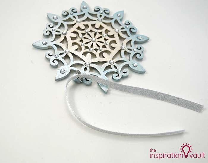 Swarovski Crystal Handmade Snowflake Ornament Step 5