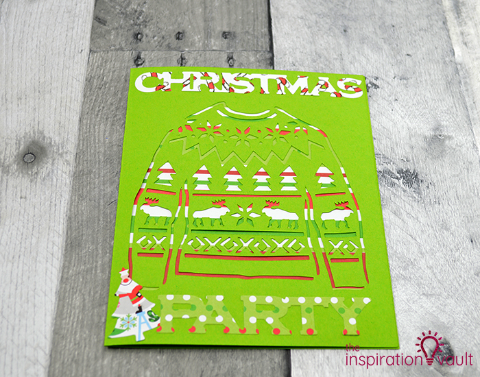 Ugly Christmas Sweater Party Invitation Step 8