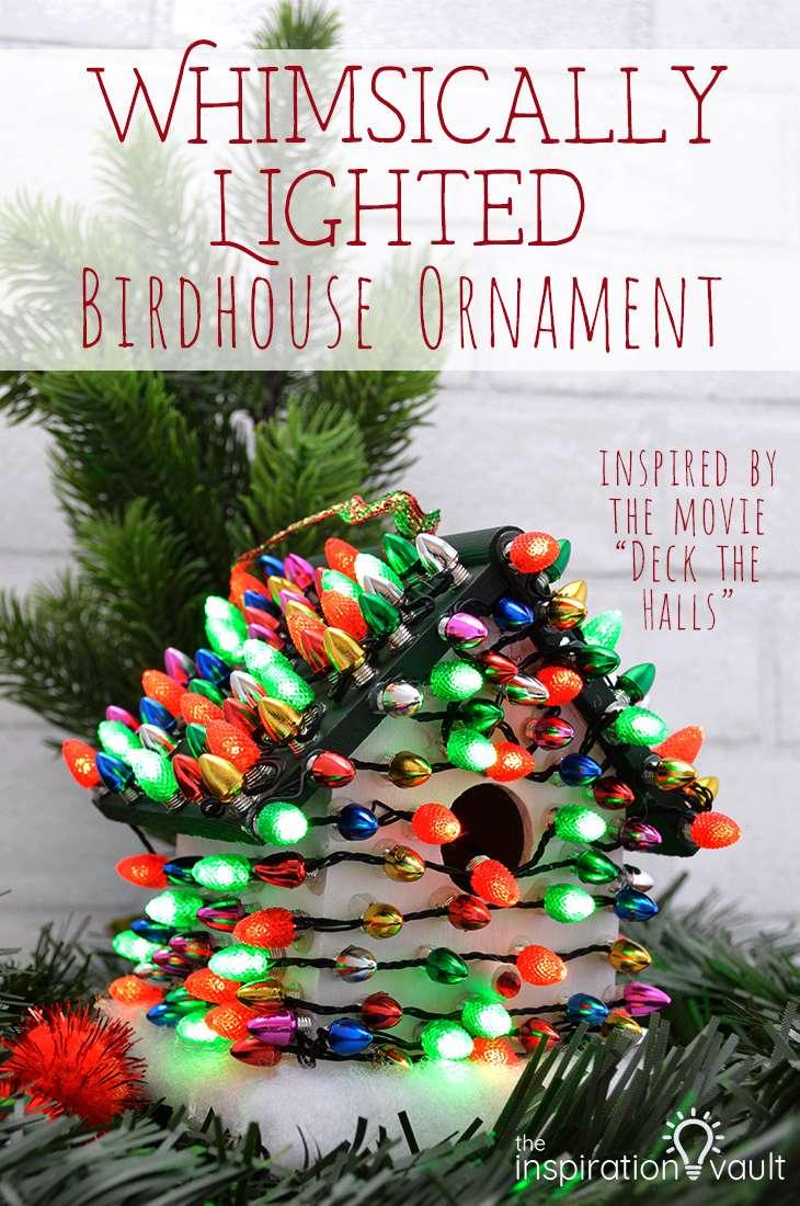 Whimsically Lighted Birdhouse Ornament Christmas DIY Craft Tutorial