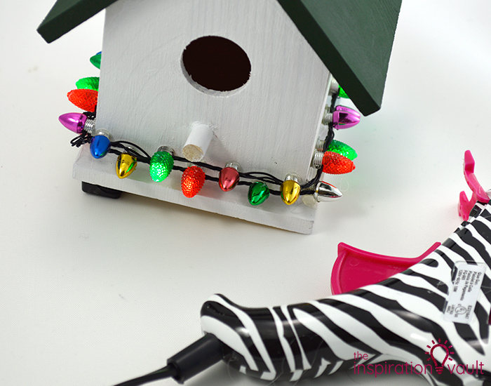 Whimsically Lighted Birdhouse Ornament Step 3a