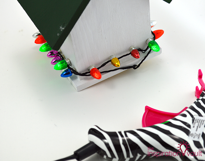 Whimsically Lighted Birdhouse Ornament Step 3b