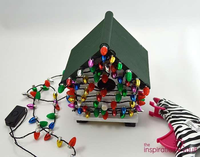 Whimsically Lighted Birdhouse Ornament Step 4a