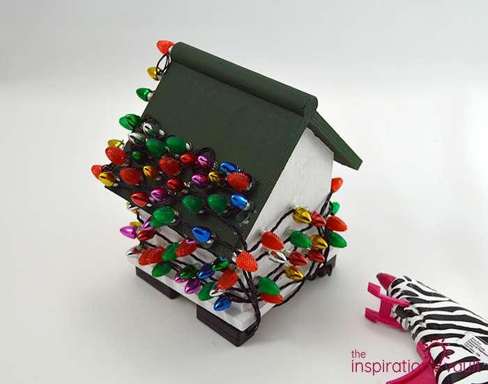 Whimsically Lighted Birdhouse Ornament Step 5a