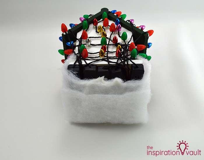 Whimsically Lighted Birdhouse Ornament Step 9a