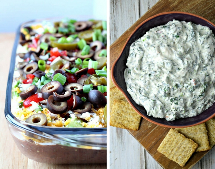 7 Layer Dip & Cold Spinach Dip