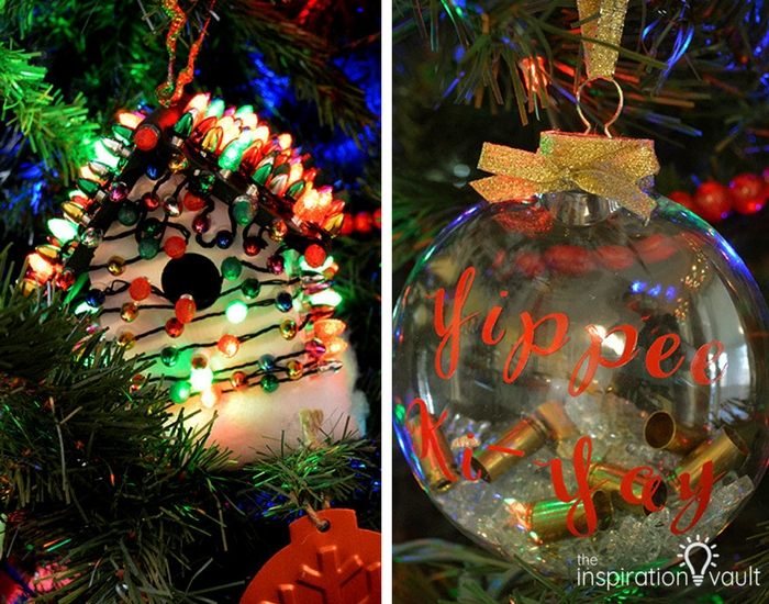 Birdhouse and Die Hard Ornaments