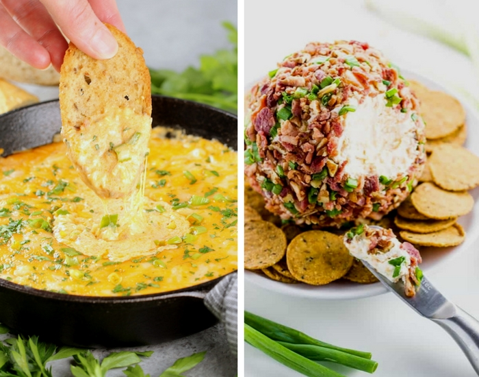 Buffalo Shrimp Dip & Bacon Cheese Ball