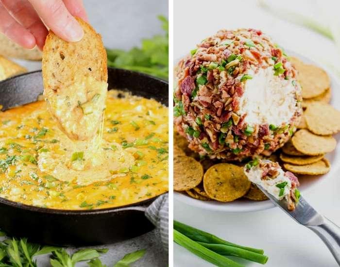 Buffalo Shrimp Dip & Bacon Cheese Ball
