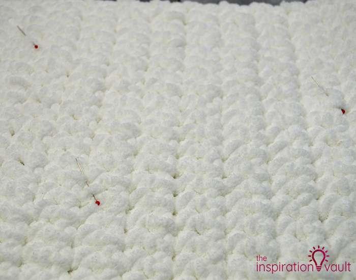 Crochet & Cross Stitch Snowman Pillow Step 4