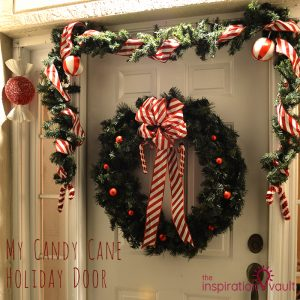 My Candy Cane Holiday Door Feature