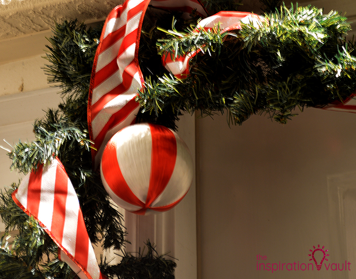 My Candy Cane Holiday Door Garland Balls