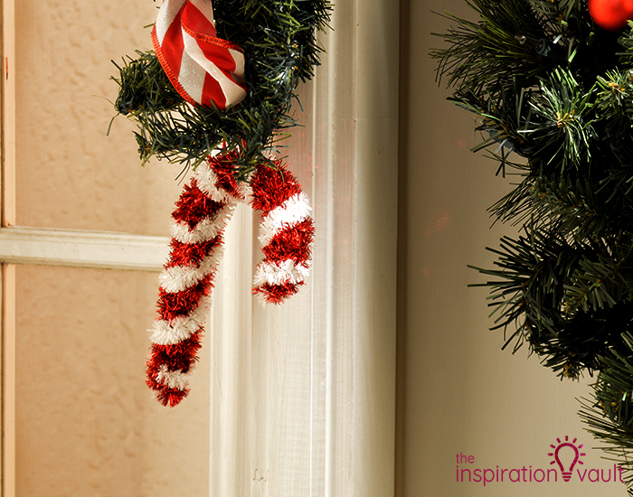 My Candy Cane Holiday Door Garland Canes
