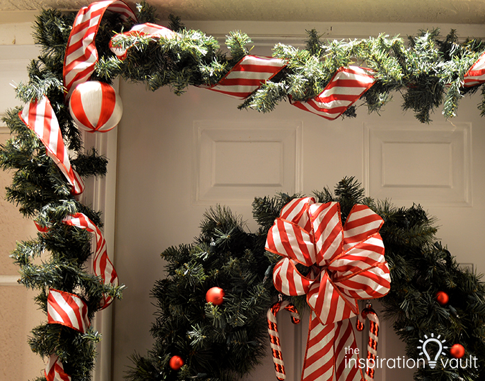 My Candy Cane Holiday Door Garland