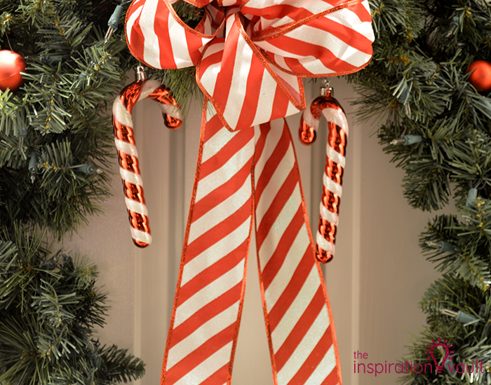 My Candy Cane Holiday Door Wreath Canes