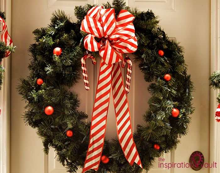 My Candy Cane Holiday Door Wreath