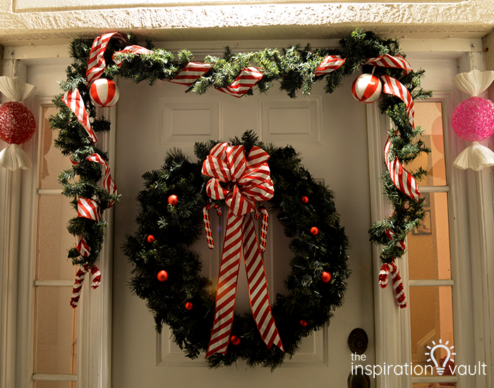 My Candy Cane Holiday Door