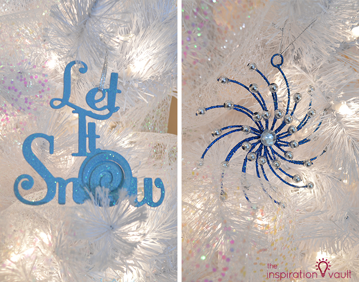 My Winter Wonderland Christmas Tree 2 Blue Ornaments