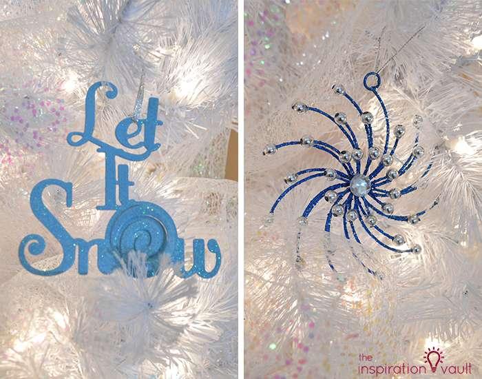 My Winter Wonderland Christmas Tree 2 Blue Ornaments