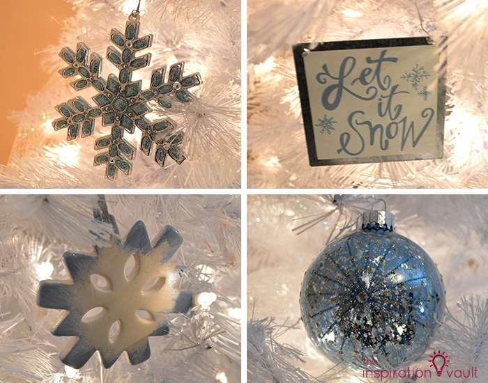 My Winter Wonderland Christmas Tree 4 Blue Ornaments
