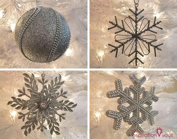My Winter Wonderland Christmas Tree 4 Silver Ornaments