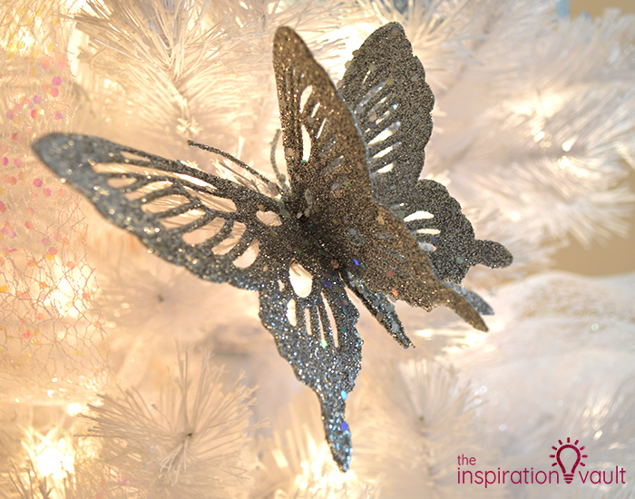 My Winter Wonderland Christmas Tree Silver Butterfly