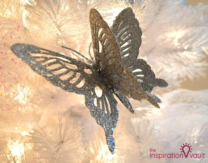 My Winter Wonderland Christmas Tree Silver Butterfly