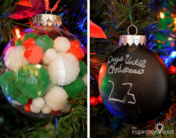Pom Pom and Countdown Ornaments