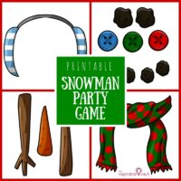 Printable Snowman Party Game Feature
