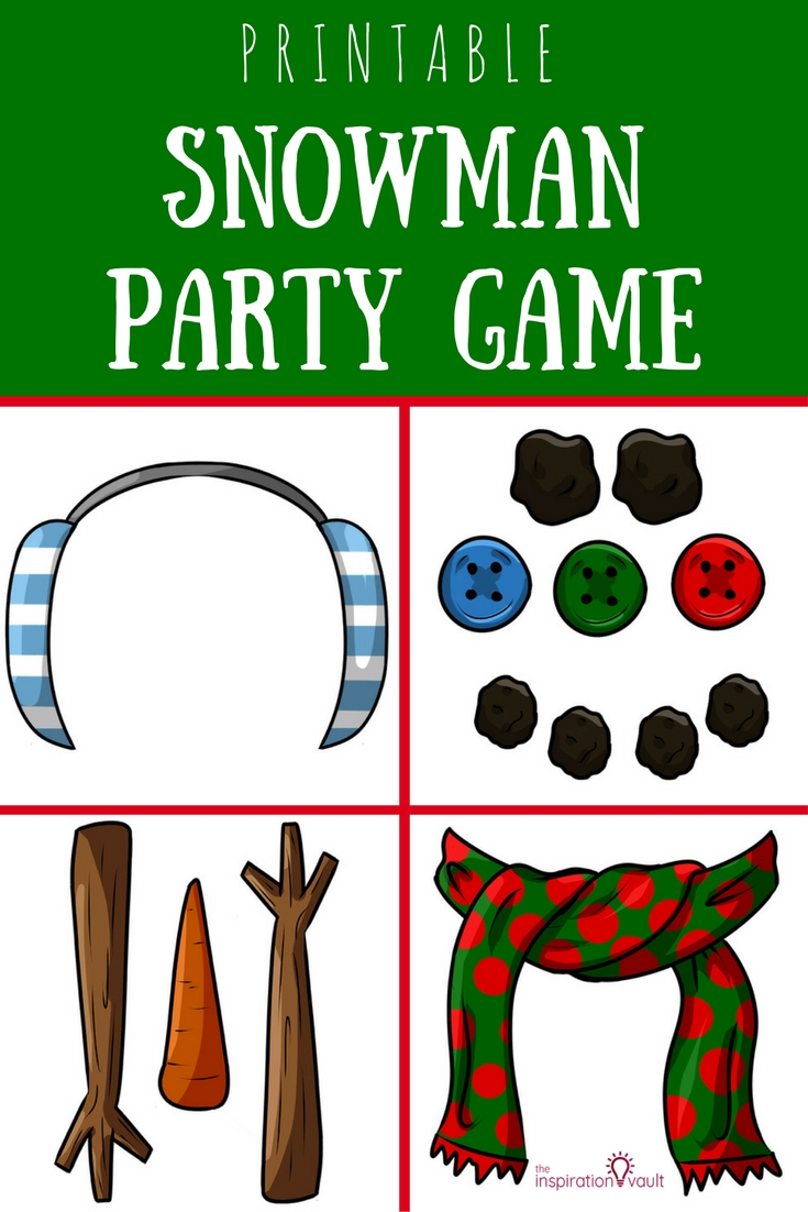 Printable Snowman Party Game for Christmas Event