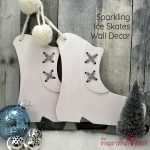 Sparkling Ice Skates Wall Decor