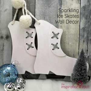 Sparkling Ice Skates Wall Decor Feature
