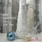 White Flower Petal Covered Cone Tree