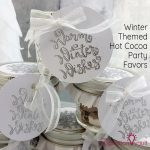 Winter Themed Hot Cocoa Party Favors