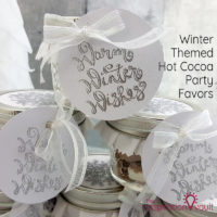 Winter Themed Hot Cocoa Party Favors Feature