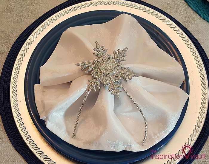 Winter Wonderland Snowflake Table Setting Complete